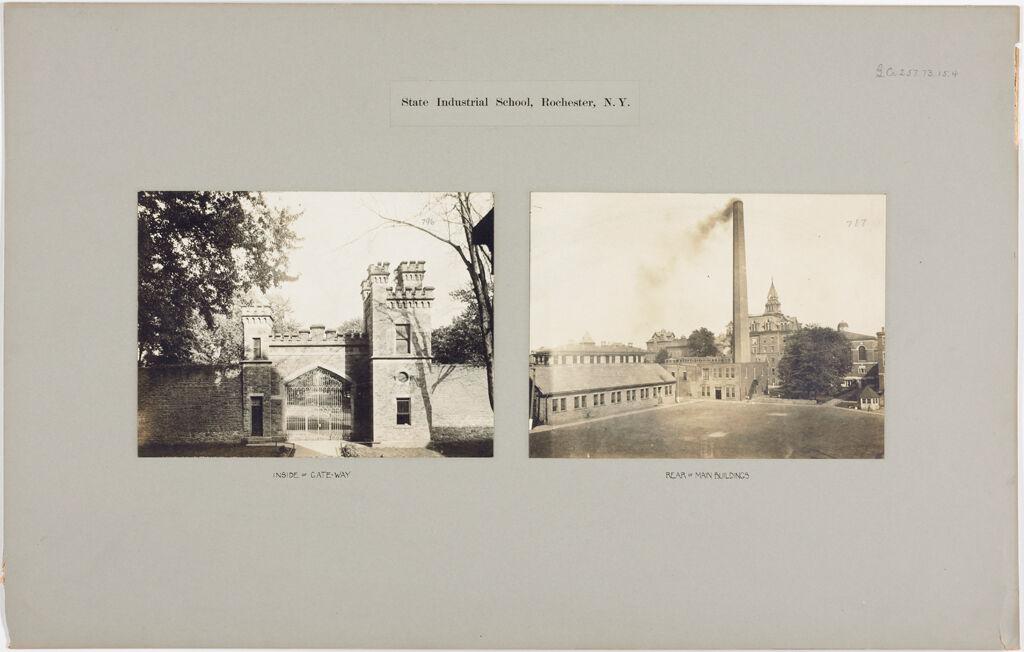 Crime, Children, Reform Schools: United States. New York. Rochester. State Industrial School: State Industrial School, Rochester, N.y.