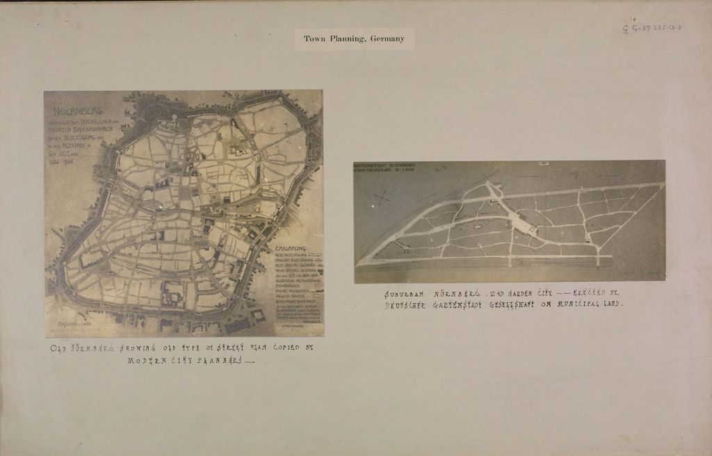 Government, City: Germany. Nuremberg. Plan Of City & Of Garden Suburb: Town Planning, Germany