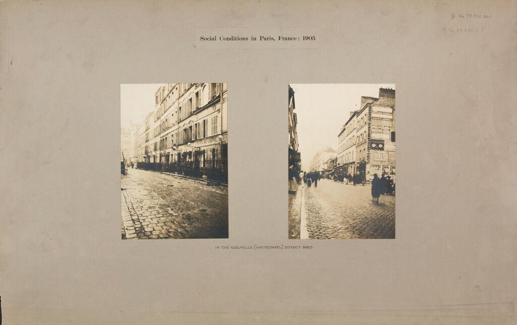 Housing, Conditions: France. Paris. Streets: Social Conditions In Paris, France: 1905: In The Grenelle (Whitechapel) District: Paris.
