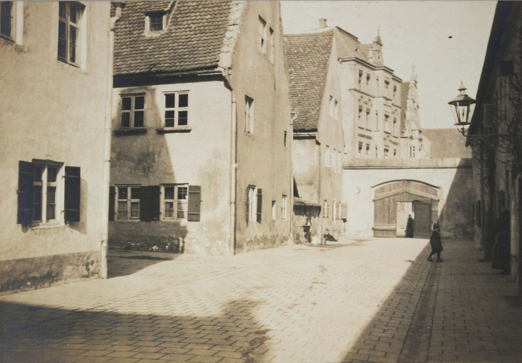 Housing, Improved: Germany. Augsburg: Improved Workmen's Dwellings: Improved Workmen's Dwellings: Germany: In The Fuggerei: Augsburg: An Entrance Gate