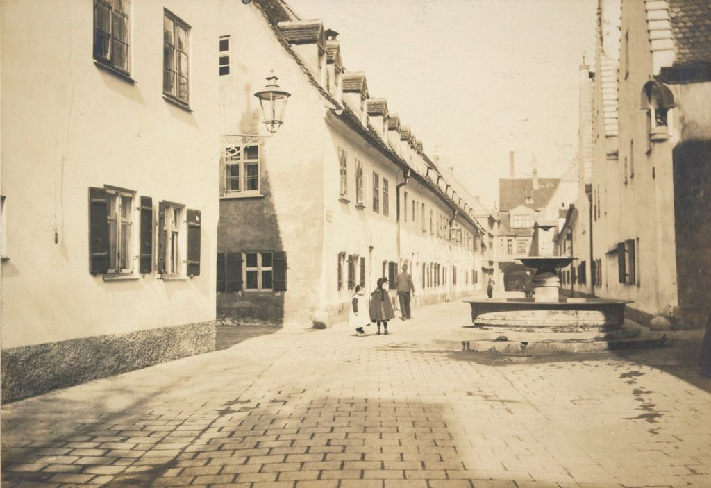 Housing, Improved: Germany. Augsburg: Improved Workmen's Dwellings: Improved Workmen's Dwellings: Germany: In The Fuggerei: Augsburg