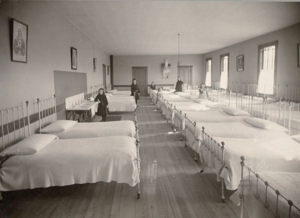 Charity, Children: United States. New Hampshire. Manchester. St. Patrick's Orphanage For Girls: New Hampshire State Charitable And Correctional Institutions: Dormitory.