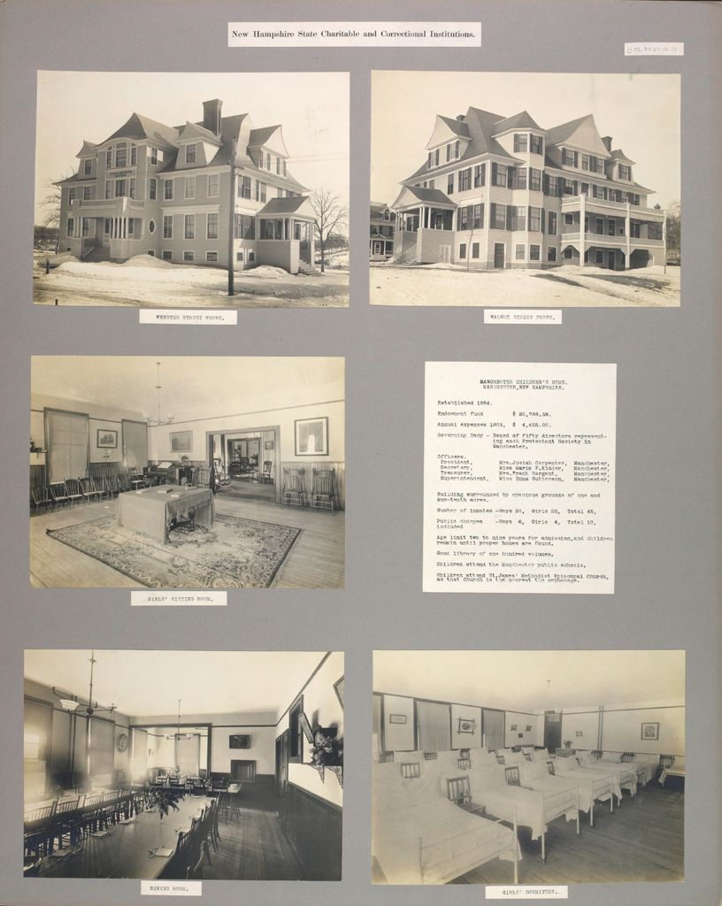 Charity, Children: United States. New Hampshire. Manchester. Manchester Children's Home: New Hampshire State Charitable And Correctional Institutions.