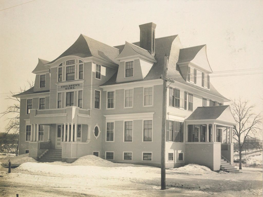 Charity, Children: United States. New Hampshire. Manchester. Manchester Children's Home: New Hampshire State Charitable And Correctional Institutions: Webster Street Front.