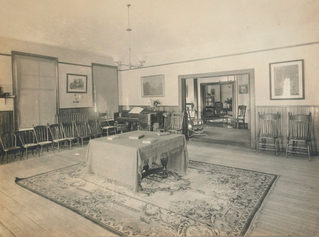 Charity, Children: United States. New Hampshire. Manchester. Manchester Children's Home: New Hampshire State Charitable And Correctional Institutions: Girls' Sitting Room.