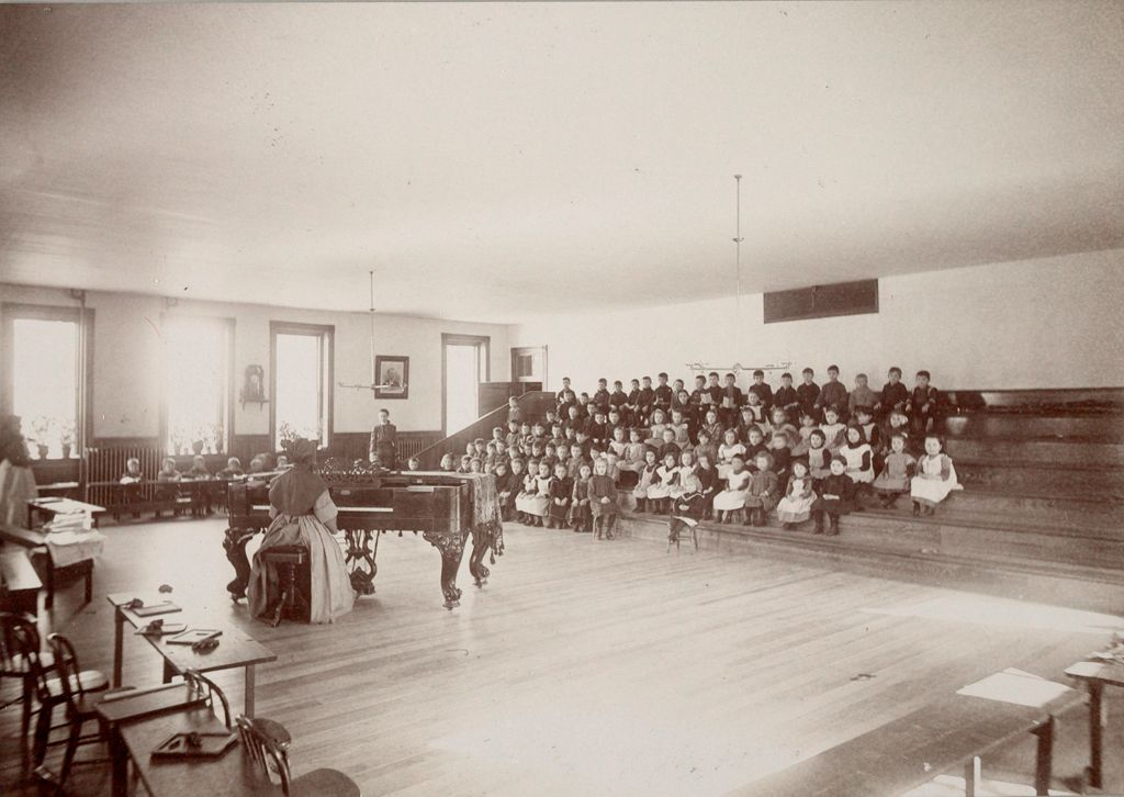 Charity, Children: United States. New Hampshire. Nashua. St. Joseph's Orphanage: New Hampshire State Charitable And Correctional Institutions: Music And Kindergarten Room.