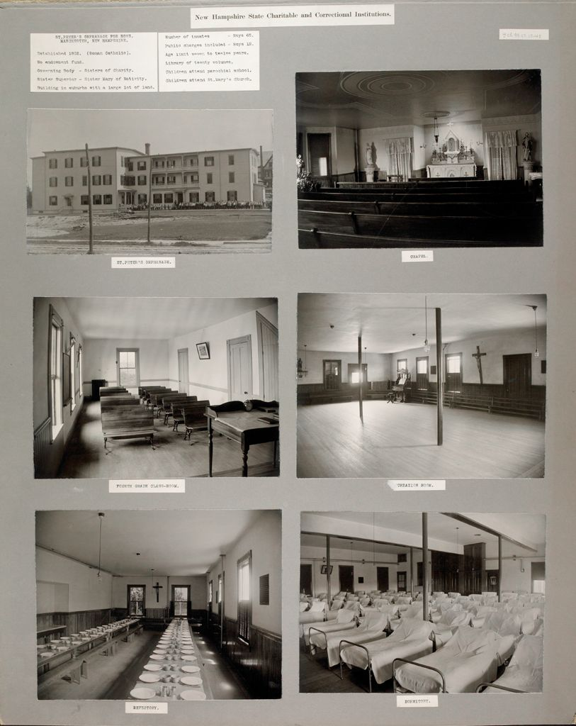Charity, Children: United States. New Hampshire. Manchester. St. Peter's Orphanage For Boys: New Hampshire State Charitable And Correctional Institutions.
