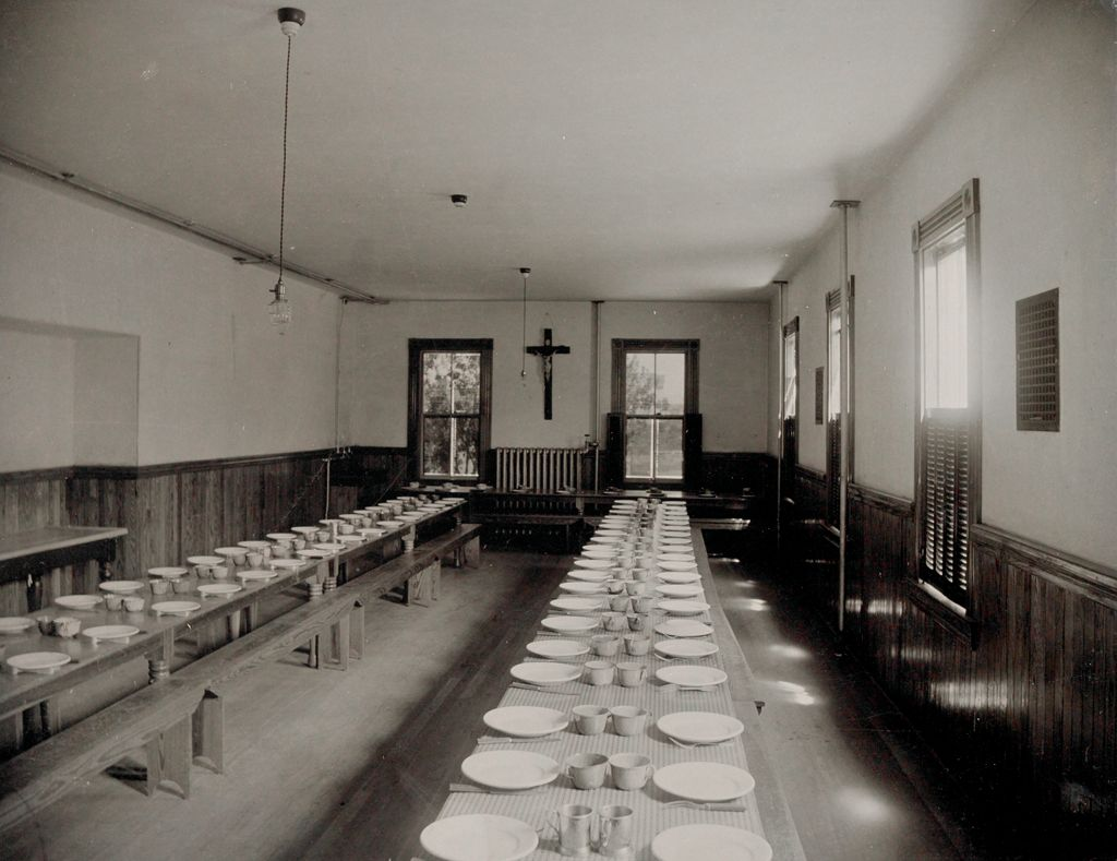 Charity, Children: United States. New Hampshire. Manchester. St. Peter's Orphanage For Boys: New Hampshire State Charitable And Correctional Institutions.: Refectory.