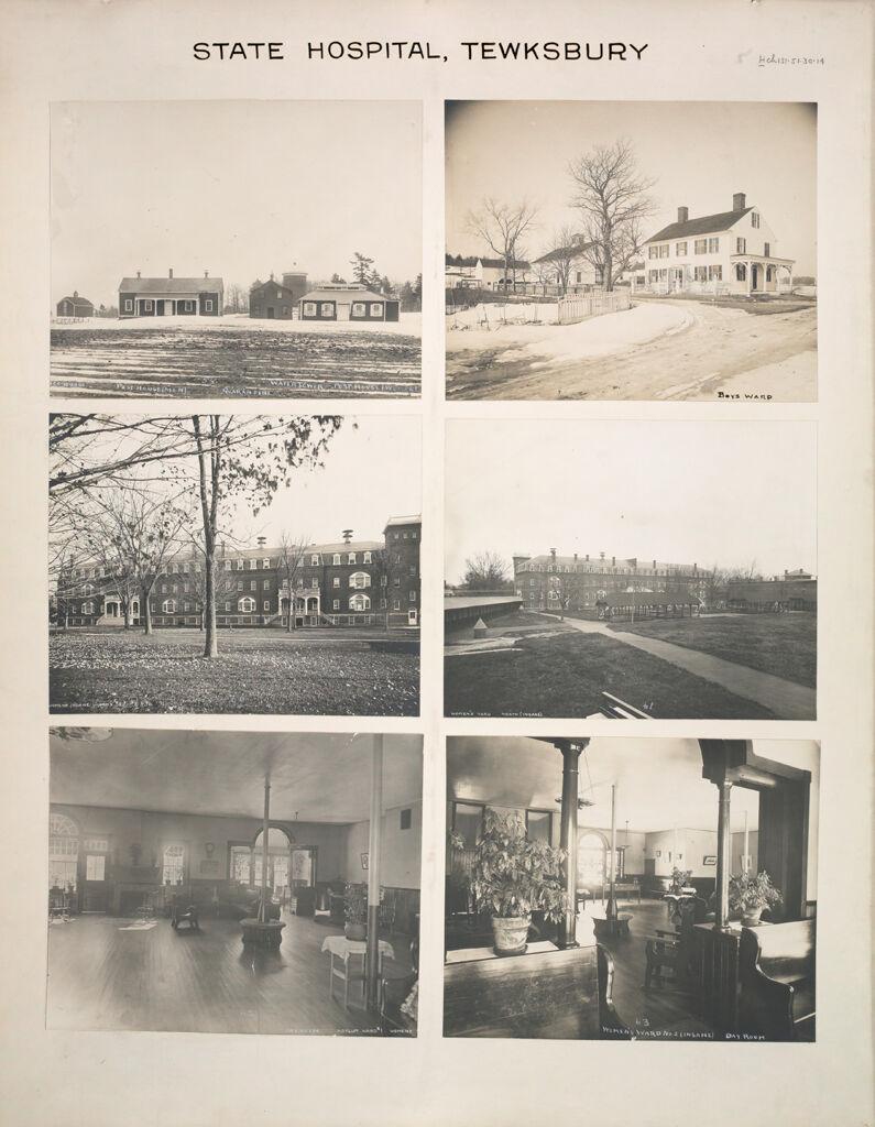 Charity, Hospitals: United States. Massachusetts. Tewksbury. State Hospital: State Hospital, Tewksbury