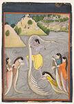 Krishna Quells the Serpent Kaliya, Folio from a Bhagavata Purana (History of God) series