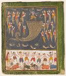Krishna Quells the Serpent Kaliya, from a Bhagavata Purana series
