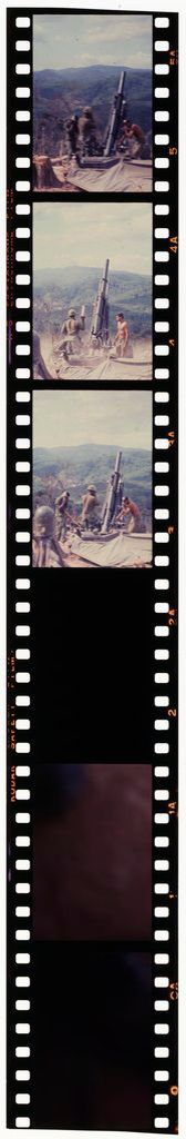Untitled (Three Soldiers On Cliff Setting Up Rocket Launcher/Recoilless Rifle, Vietnam)