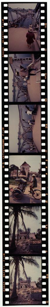 Untitled (Damaged Houses; Cycle Rickshaw; Partially Collapsed Bridge, Hue, Vietnam)