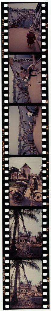 Untitled (Damaged Houses; Cycle Rickshaw; Partially Collapsed Bridge, Hue, Vietnam)