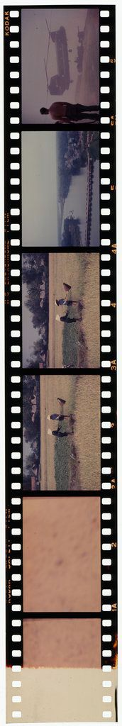 Untitled (Rice Paddy; View Of Bridge; Helicopter Lifting Artillery, Vietnam)