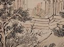 Mountain Hut And Scholar Viewing Plum Blossoms