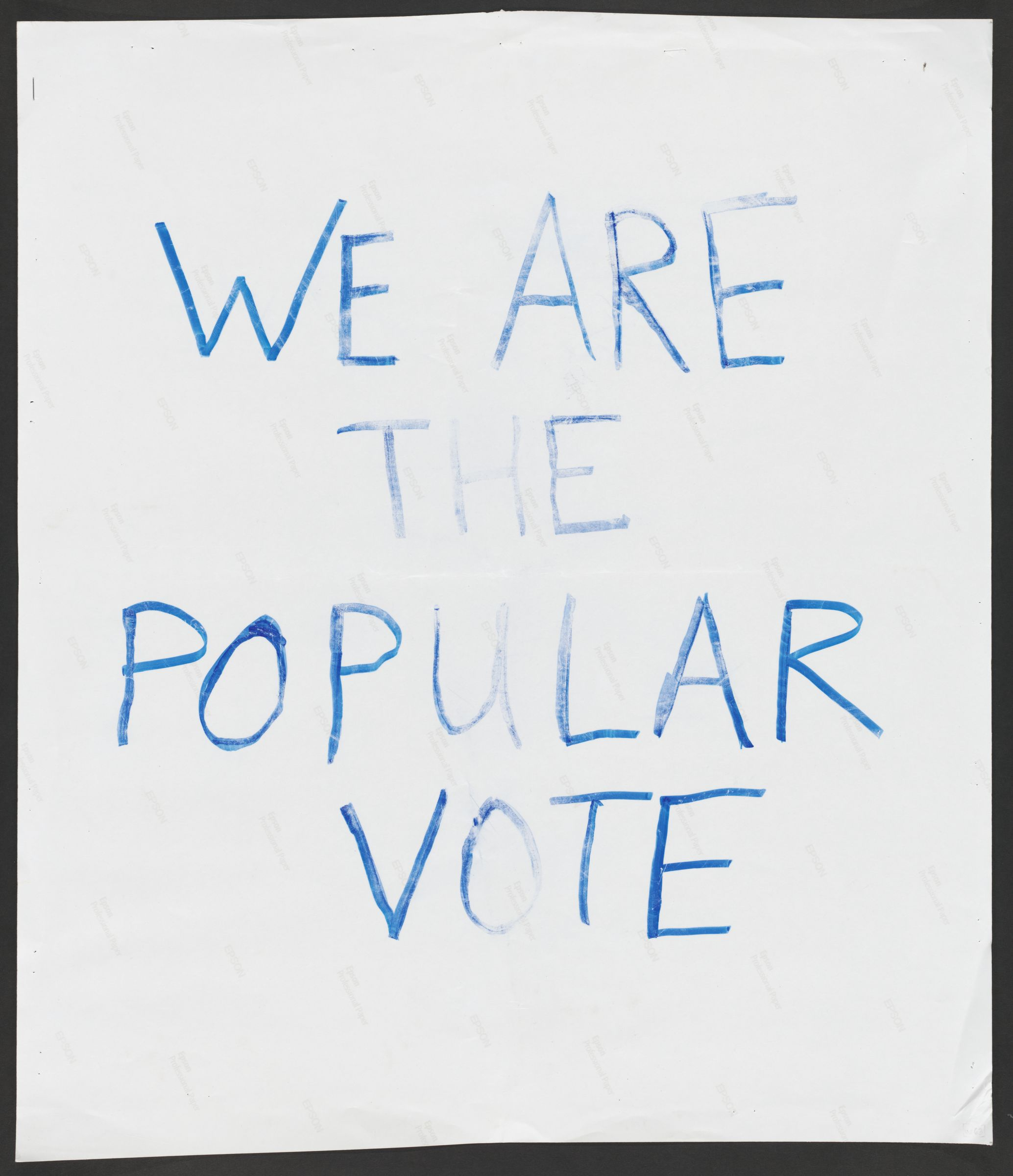 Women's March on Washington poster: We are the popular vote!