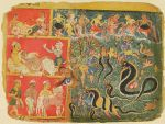 Krishna Subdues the Serpent King Kaliya, folio from an album of the Bhagavata Purana (Ancient Stories of the Lord)