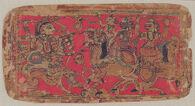 The Goddess Durga Battles Demons, folio from a manuscript of the Durgasaptashati (Seven Hundred Couplets in Praise of Durga)