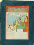 Narayana Enthroned with Lakshmi and Sarasvati