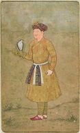 Khan 'Alam, Mughal Emperor Jahangir's Falconer and His Ambassador to Iran, with a Sparrow Hawk