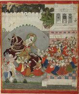 Maharao Ram Singh (r. 1827-66) Celebrating Diwali
