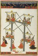Maharaja Man Singh of Marwar (r. 1803-43) with Ladies on a Charkhi