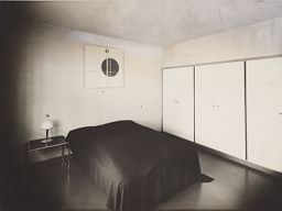 Bauhaus Masters' Housing, Dessau, 1925-1926: Lucia Moholy And László Moholy-Nagy's Bedroom With Moholy-Nagy's Painting