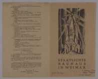 Preliminary design for the Program of the State Bauhaus in Weimar