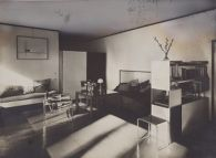 Bauhaus Masters' Housing, Dessau, 1925-1926: Lucia Moholy and László Moholy-Nagy's Living Room