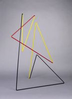 Space Sculpture Black, Yellow, And Red