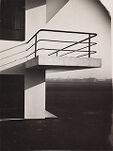 Bauhaus Building, Dessau, 1925-1926: Detail of studio wing balcony
