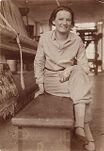Gertrud Herold in Bauhaus Weaving Workshop, Dessau