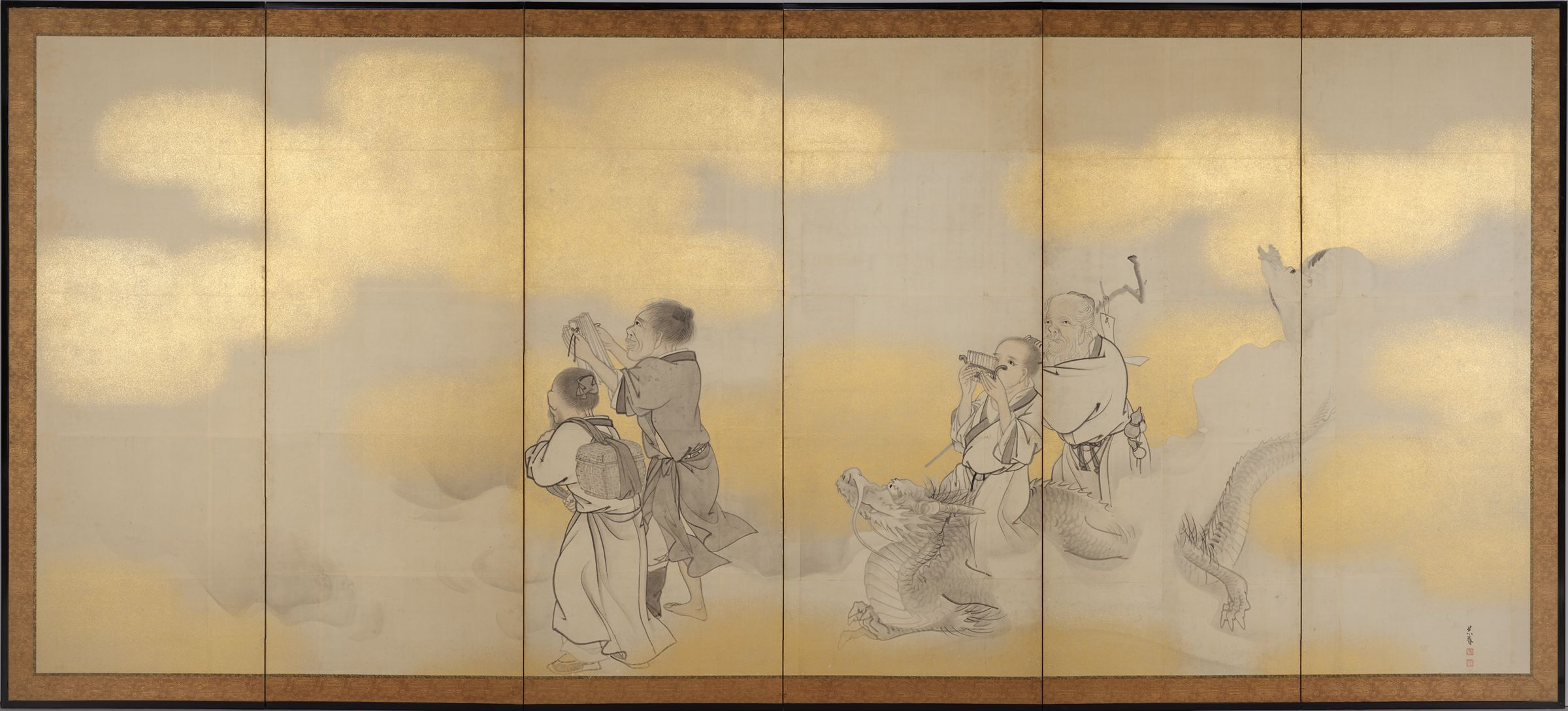 Seven Chinese Immortals (Right Screen)