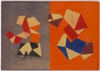 Four Folds On Orange Next To Three On Grey-Blue