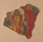 Fragment of a Wall Painting with the Head and Bust of Guanyin Pusa (the Bodhisattva Avalokiteshvara)