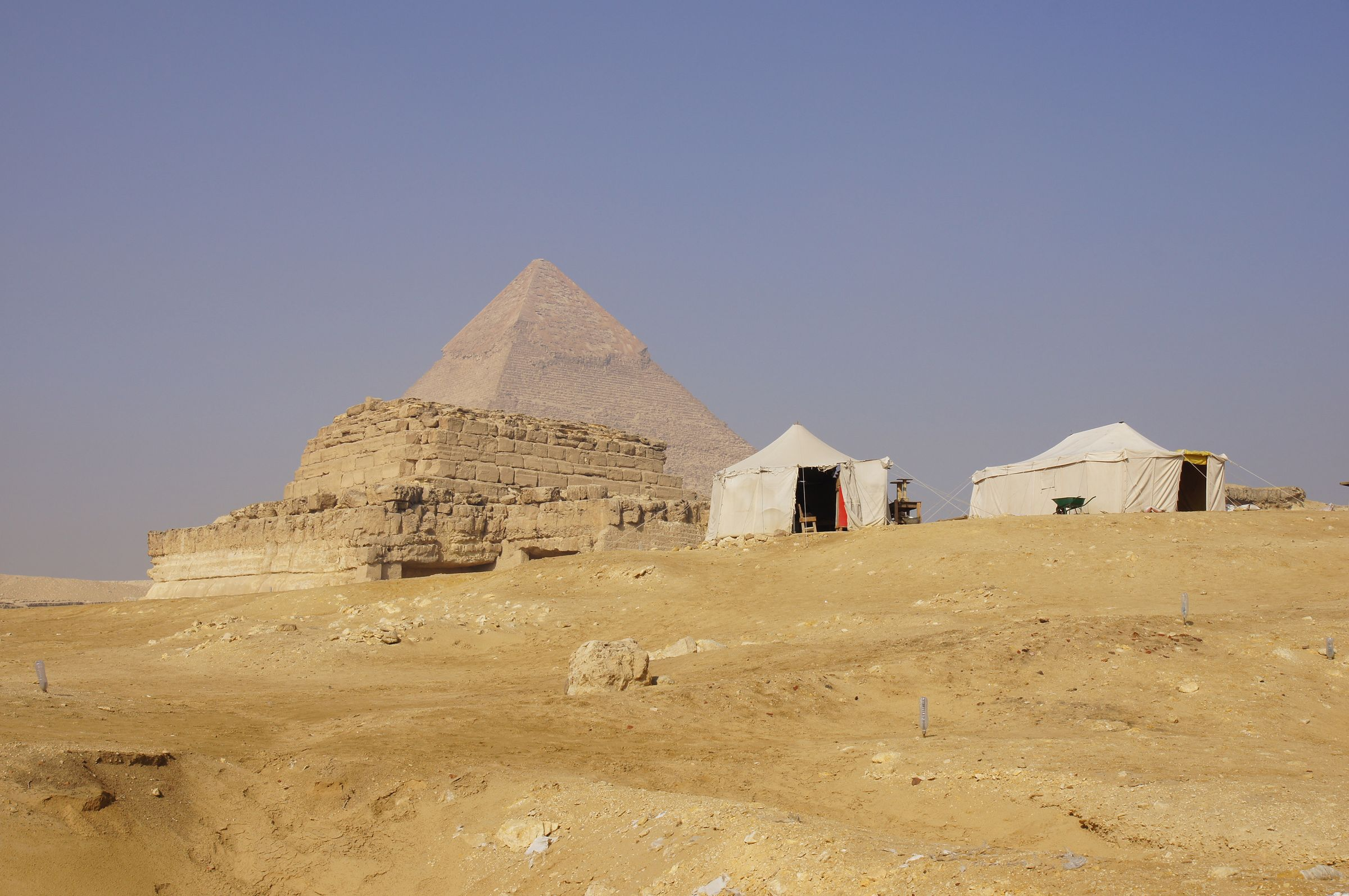 Central Field (Hassan): Site: Giza; View: G 8400, Khafre Pyramid