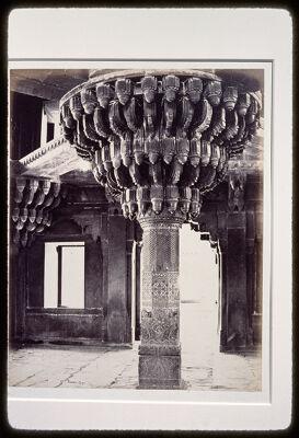 """<bdi class=""""metadata-value"""">Main Title: Central pillar, Diwan-i-khas, Fatehpur Sikri, India</bdi>"""