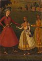 Courtier Refusing Wine From Indian Courtesans