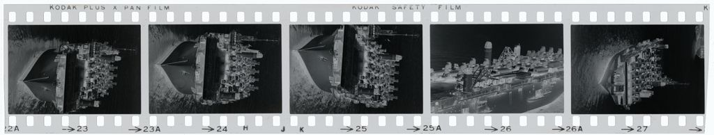 Untitled (Ship Transporting Chinook Helicopters, Vietnam)