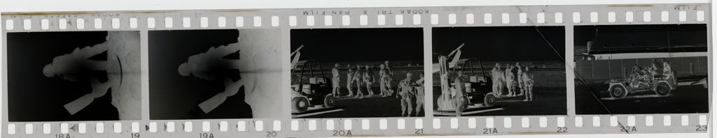 Untitled (Soldier With Pickaxe;Soldiers Departing From Work Area, Vietnam)