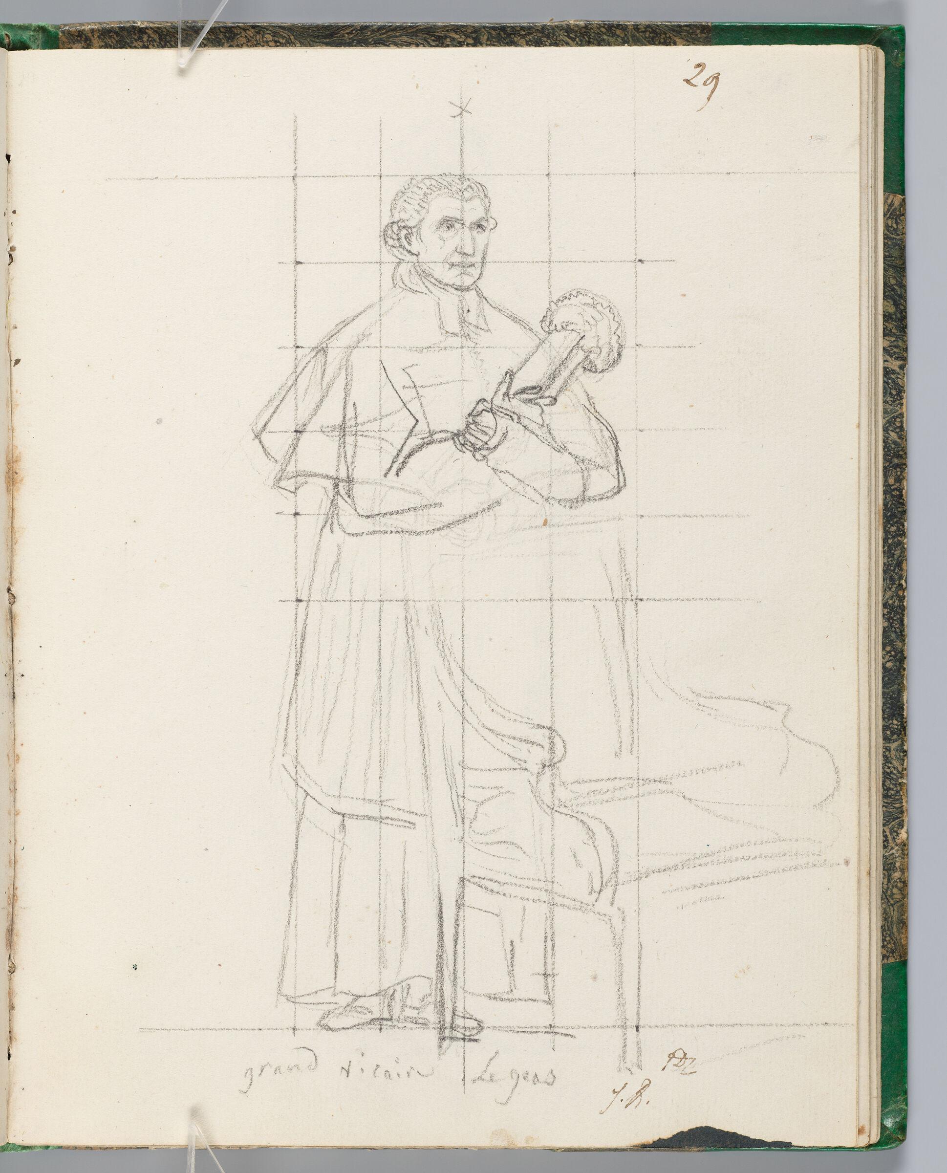 Baron Léjeas, Vicar-General In The Service Of The Archbishop Of Paris; Verso: Blank