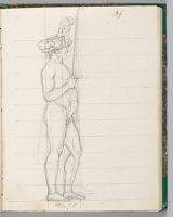 Maréchal Lefebvre, Nude Except For Plumed Hat, Holding The Sword Of Charlemagne; Verso: Blank
