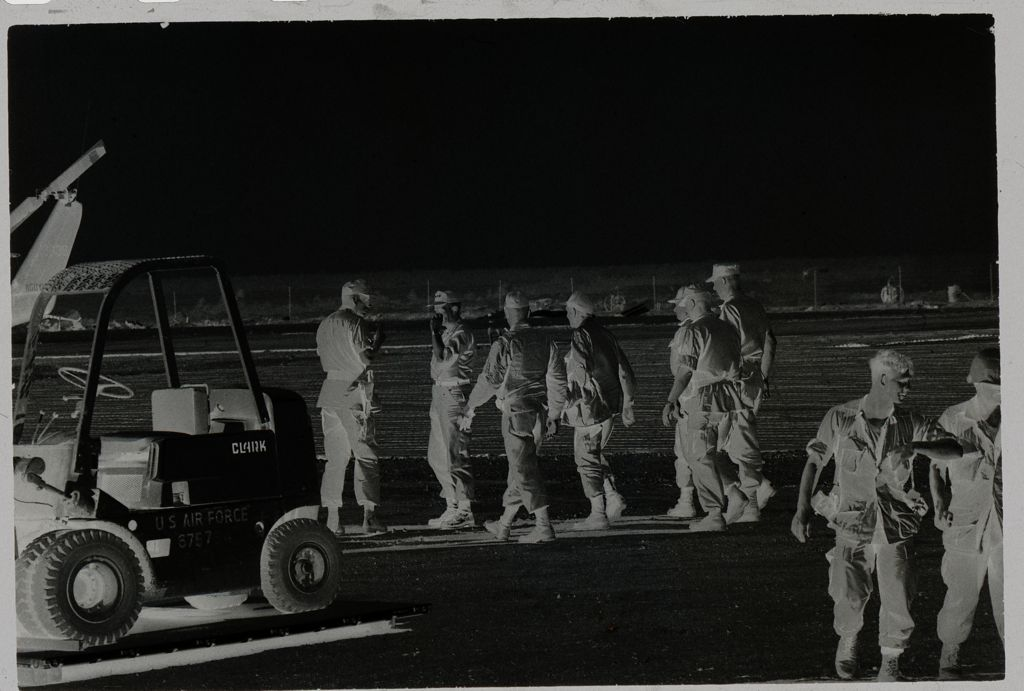 Untitled (Group Of Soldiers With Forklift, Vietnam)