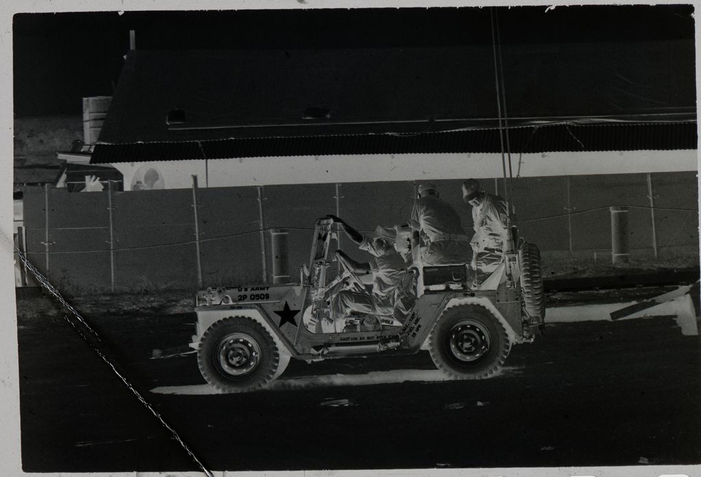 Untitled (Soldiers Riding In Open Jeep, Vietnam)