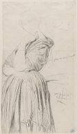 Study for the Portrait of Madame Othenin d'Haussonville; verso: Unfinished sketch of same subject