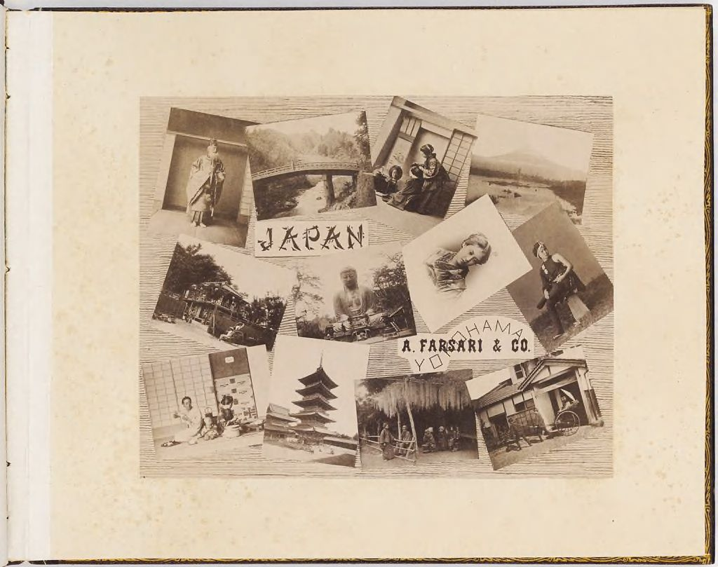 Japan (Album Title Page With Photomontage And Publisher's Address)
