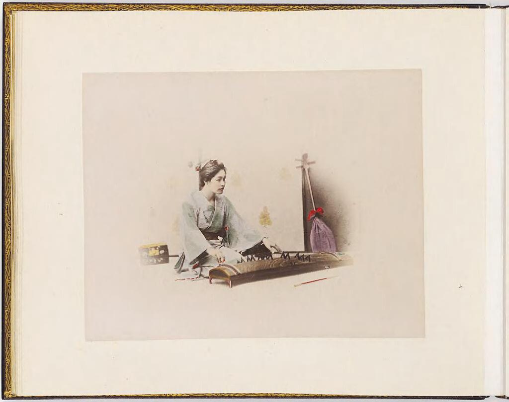Untitled (Woman Playing A Koto)