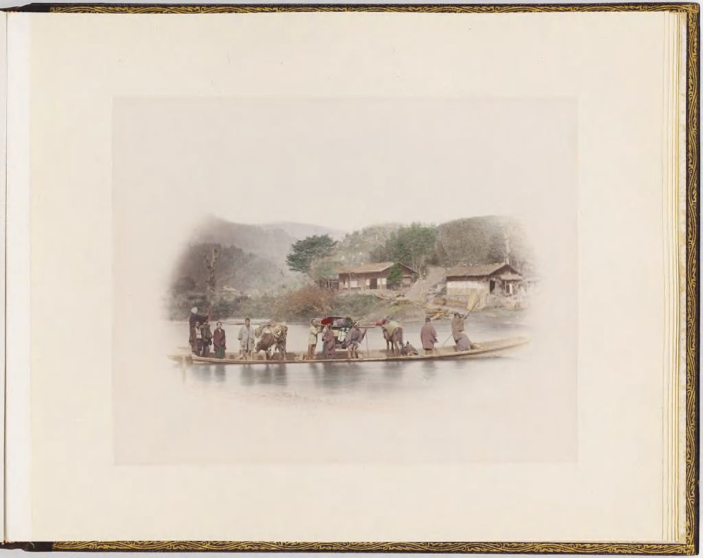 Untitled (Ferry Crossing River Carrying Men And Animals)