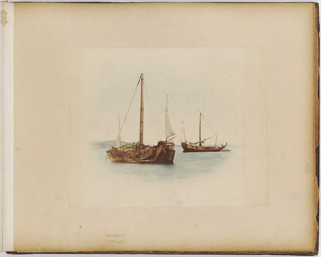 Untitled (Two Boats With Masts)